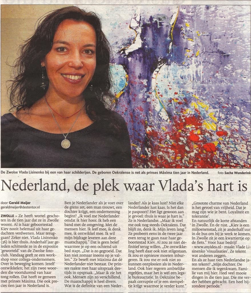 De Stentor, Regiopagina, mei 2011